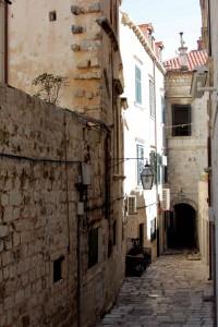 Smalle zijstraatjes in Dubrovnik