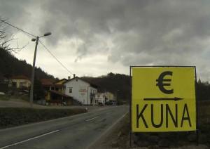 Euro = Kuna, van Slovenië naar Kroatië