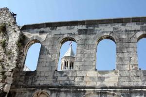 Deel van het paleis in Split