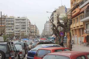 Dubbel parkeren in Thessaloniki