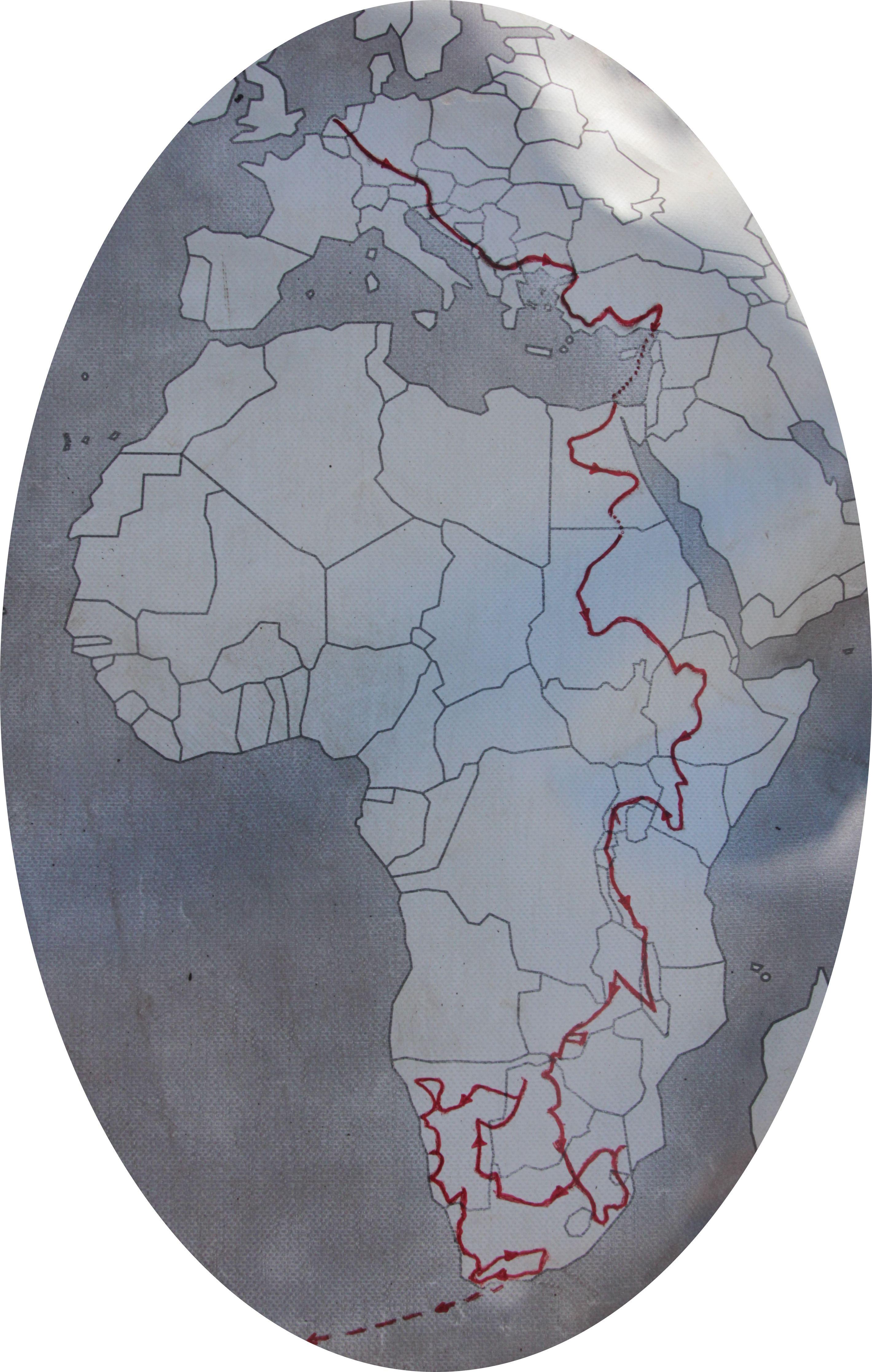 ibeX route Afrika heen 2013-2014